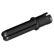 LEGO® 18651 Technic, Axle Pin 3L with Friction Ridges Lengthwise and 2L Axle Black