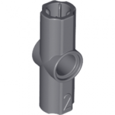 LEGO® 32034 Technic, Axle and Pin Connector Angled #2 - 180 degrees Dark Bluish Gray