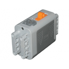 LEGO® 59510c01 Electric 9V Battery Box 4 x 11 x 7 PF with Orange Switch and Dark Bluish Gray Covers Light Bluish Gray