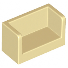 LEGO® 23969 Panel 1 x 2 x 1 with Rounded Corners and 2 Sides Tan