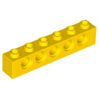 LEGO® 3894 Yellow Technic, Brick 1 x 6 with Holes