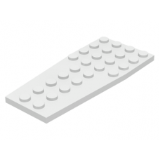LEGO® 2413 White Wedge, Plate 4 x 9 without Stud Notches