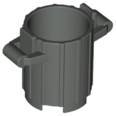 LEGO® 2439 Dark grijs Container Trash Can with 2 Cover Holders