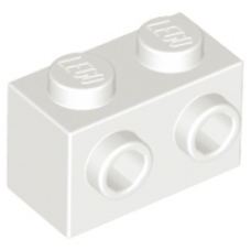 LEGO® 11211 White Brick, Modified 1 x 2 with Studs on 1 Side