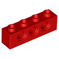 LEGO® 3701 Red Technic, Brick 1 x 4 with Holes