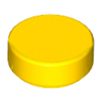 LEGO® 98138 Yellow Tile, Round 1 x 1