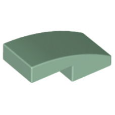 LEGO® 11477 Sand Green Slope, Curved 2 x 1