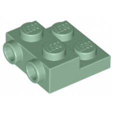 LEGO® 99206 Sand Green Plate, Modified 2 x 2 x 2/3 with 2 Studs on Side