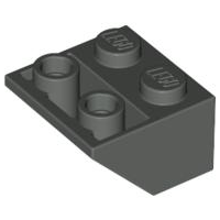 LEGO® 3660 Dark Gray Slope, Inverted 45 2 x 2